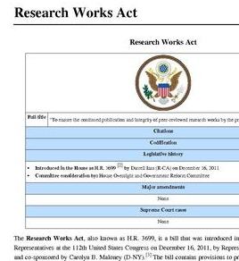 research works act ALA Midwinter 2012: Head of RLUK Calls Research Works Act Audacious in the Extreme