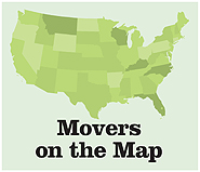 Movers on the Map