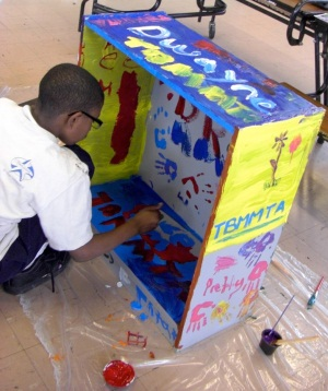 MGarvey4thgraderpainting Outdoor Libraries Honor Detroit's Closed Branches