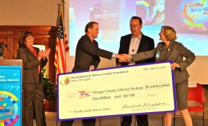 Melrose Foundation giant check