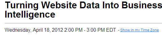 webinar2 Turning Website Data Into Business Intelligence