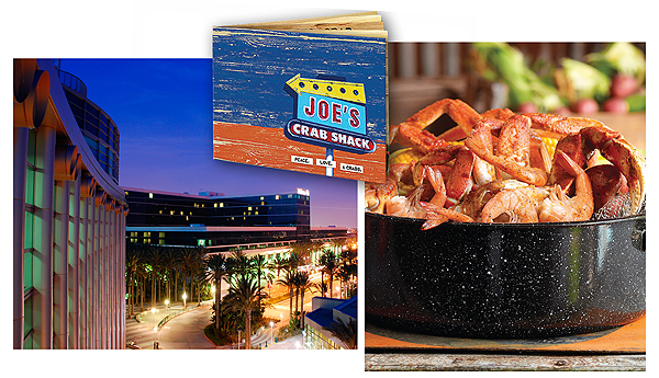 Savory and Satisfying: Anaheim's panoply of eateries near the Convention Center (l.) include Joe's Crab Shack, boiling up—what else?—crabs!
