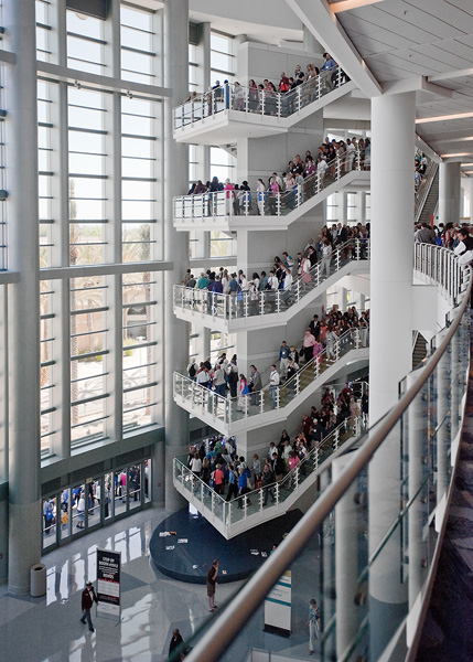 ALA attendees throng stairs during fire drill