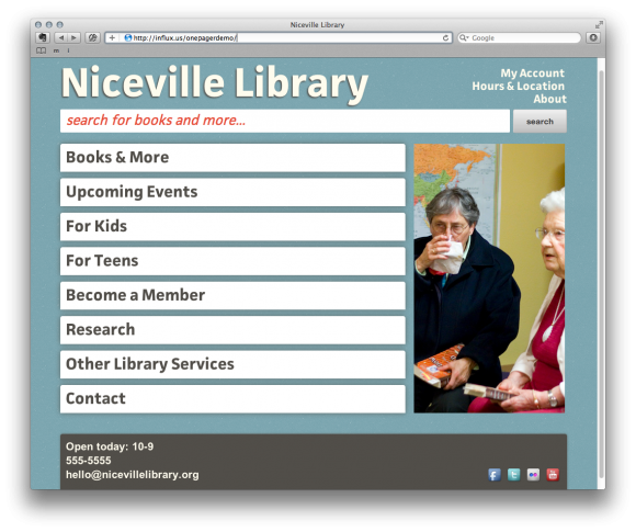 Niceville Library 1 580x485 Starting with Simplicity | The User Experience