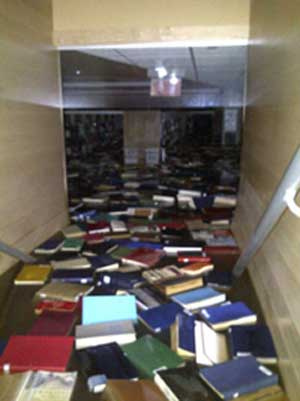 UWSuperiorLibraryBooksAfloat UW Superior Works to Salvage Flooded Library