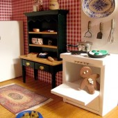 Storybook dollhouse kitchen