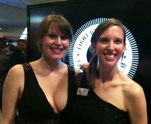 Caitlyn Spaulding (left) and Gwyneth Jelinek