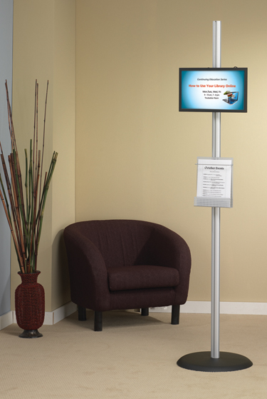 ljx120902lbdwhxwebModularPoleDisplay1 Whats Hot: The Latest in Library Products & Furnishings | Library by Design