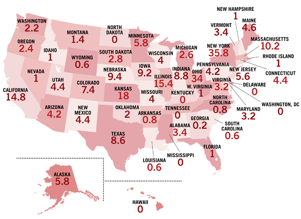 ljx121101webStarLibsmap2 LJ Index 2012: 2012 Stars, State by State
