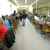 After the storm, the door count doubled at the Piscataway, NJ Public Library.
