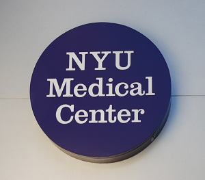 NYU Medical Center sign