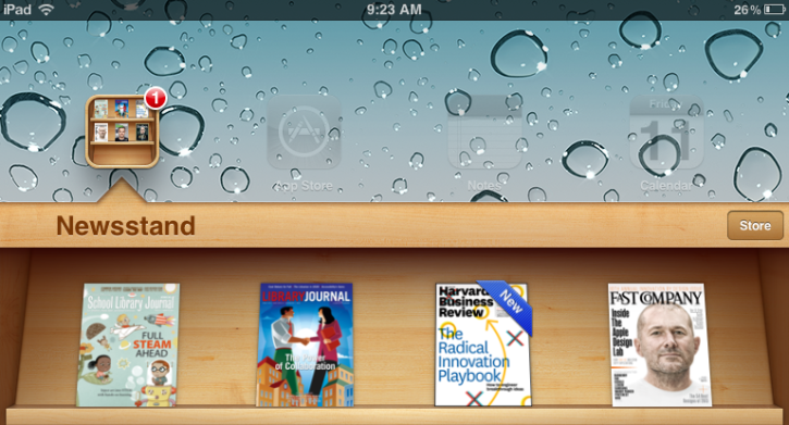 iOS newstand Library Journal Apps