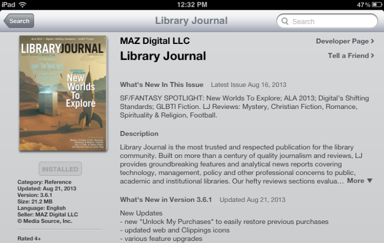 lj ipad1 Library Journal Apps
