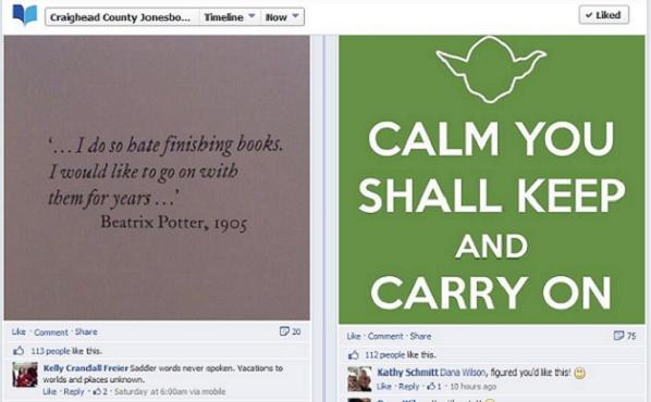 Yoda Keep Calm Facebook image