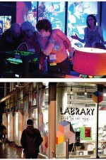 ATTRACTION ABOUNDS At top, the 4th Floor Maker space with its 3-D printing lab was a highlight of the night at the 2013 