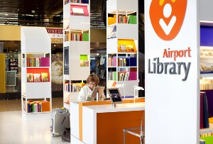 The Airport Library at Schilphol airport in Amsterdam