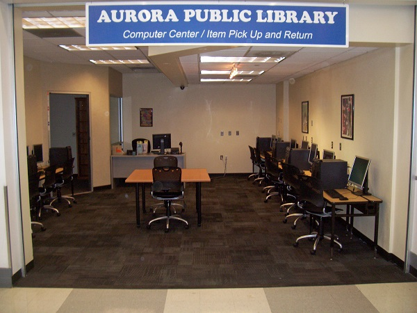 Aurora Library's computer center at Kmart