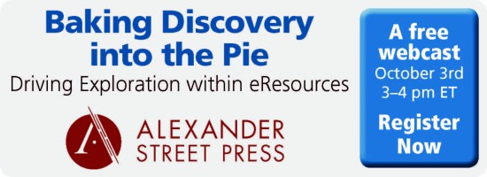 550x200 Registration Header ASP 550x200 Baking Discovery into the Pie: Driving Exploration within eResources