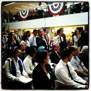 Citizenship Ceremony at HPL in April 2013