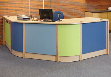 ljx130902lbdwhwebColorScapeCircDesk What's Hot | Library By Design