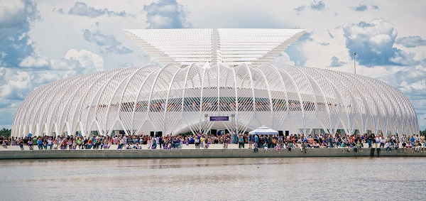 An architectural rendering of the Innovation, Science and Technology  building, courtesy of Florida Polytechnic University