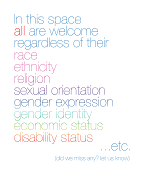 Words of Welcome poster from Chapel Hill Public Library