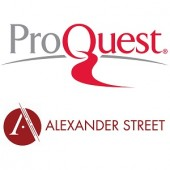 ProQuest and Alexander Street logos