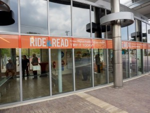 BiblioTech Ride and Read Building Wrap