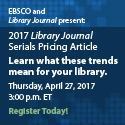 2017 Library Journal Serials Pricing Article