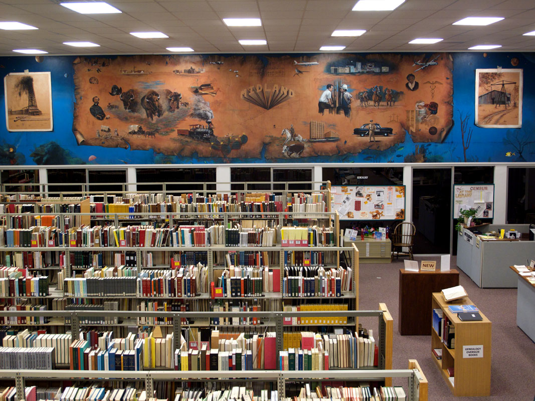 Mural in Midland, TX, library