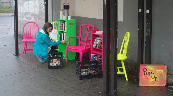 Librarian and Designer Pop Up a May Day Library on the Street