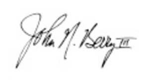 John Berry III's handwritten signature