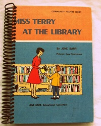 Miss Terry at the Library upcycled book journal