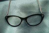 librarian glasses necklace