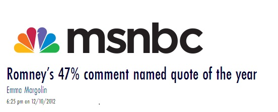 47 percent quote cited on MSNBC