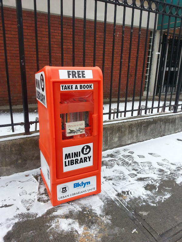 ULU mini library at Brooklyn Public Library's closed Red Hook branch
