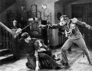 """Douglas Fairbanks in """"The Mask of Zorro"""" (1920) by  http://www.flickr.com/photos/ocarchives/6752052115/ NonCommercial License"""