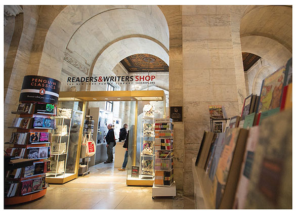 TELLING ONE STORY New York Public Library's Readers & Writers Shop in the iconic Stephen A. Schwarzman Building. Photo by Jonathan Blanc