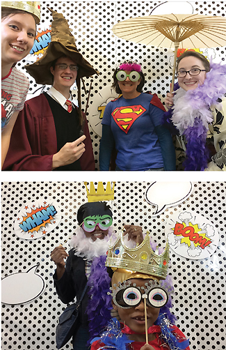 Photo booth fun with attendees savoring their five minutes of fame at CRRL-con at the Central Rappahannock Regional Library, Fredericksburg, VA. Photos courtesy of CRRL