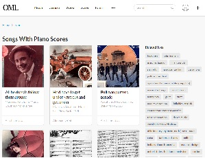 Open Music Library piano score search screenshot
