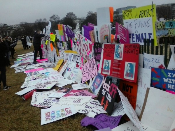 Signs from the Washington, DC, march Photo credit: Julia Kedge