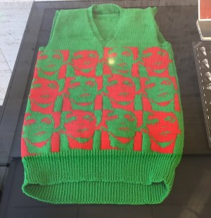 Sweater knitted by fan, Lou Reed archives at NYPLPA