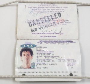 Lou Reed's passport Photo credit: Jonathan Blanc/The New York Public Library